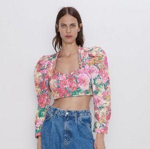 Zara floral crop top